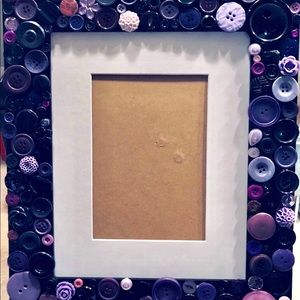 Other - 💜Purple Button Art Picture Frame💜